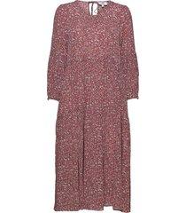 dress long sleeve knälång klänning rosa noa noa