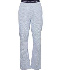 mini gingham pajama pants mjukisbyxor blå gant