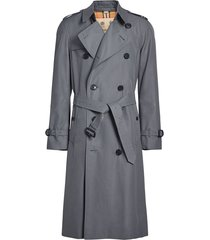 burberry the long chelsea heritage trench coat - grey
