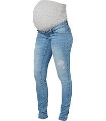 zwangerschapsjeans lichtblauwe geweven