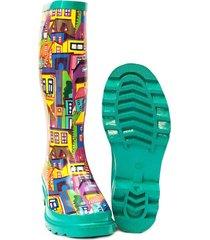 botas de lluvia mujer i am undercover  ciudad de colores-multicolor  con envio gratis