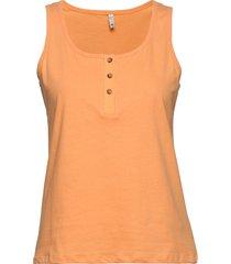pzamabella top t-shirts & tops sleeveless orange pulz jeans