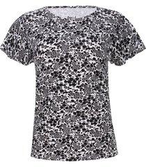 camiseta mujer margaritas color blanco, talla m