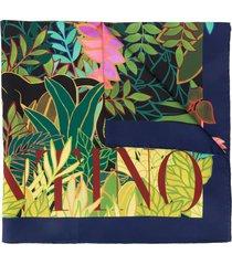 valentino garavani monkey forest print scarf - pink
