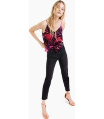bar iii palm-print tie-front cami top, created for macy's