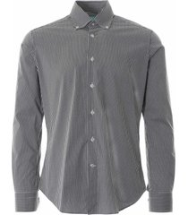 none of the above oxford check shirt black