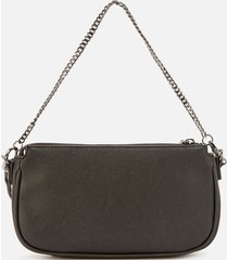 guess women's mika mini double pouch cross body bag - coal