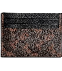 men's coach horse & carriage print card case - brown