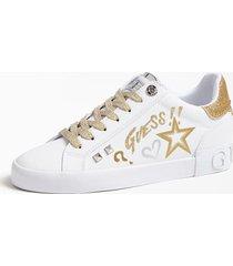 sneakersy z aplikacjami w kształcie gwiazd i logo model pryde