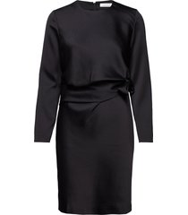 hilda ls dress 10449 jurk knielengte zwart samsøe samsøe