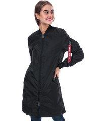 alpha industries womens ma1 tt coat size 12 in black