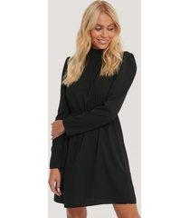 na-kd party high neck ls mini dress - black