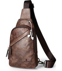 vintage casual sling borsa crossbody borsa petto borsa per uomo