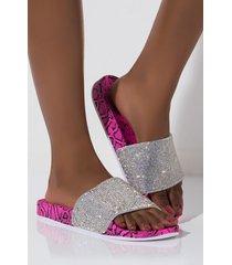 akira cape robbin step it up a notch diamond flat sandal
