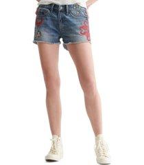 lucky brand cotton denim boyfriend shorts