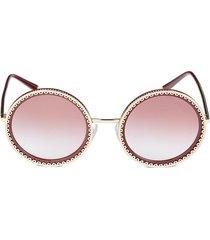 dolce & gabbana women's 53mm round sunglasses - rose gold