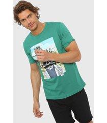 remera verde dcd calavera hipster
