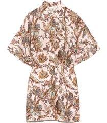 estella shirt dress in blush