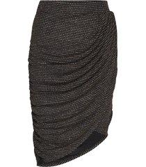 ravn * boozt glimmer skirt exclusive knälång kjol svart ravn