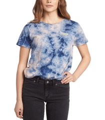 roxy juniors' you can be cotton tie-dyed t-shirt