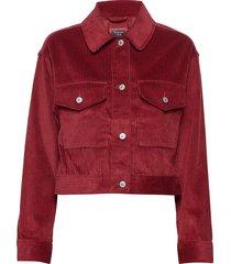corduroy trucker jeansjack denimjack rood abercrombie & fitch