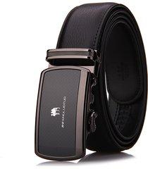 cintura di affari di alta qualità della cinghia di cuoio genuina dell'inarcamento degli uomini di 125cm