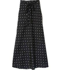 roxie maxi skirt in dark floral