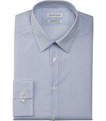 calvin klein men's infinite slim fit dress shirt cornflower - size: 17 1/2 36/37