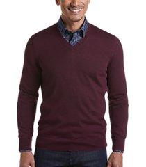 joseph abboud burgundy 37.5® technology v-neck sweater