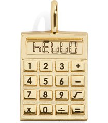 women's baublebar know your worth calculator charm