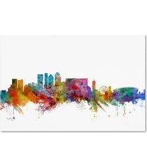 "michael tompsett 'cape town south africa skyline' canvas art - 12"" x 19"""