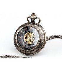 elegancja czerni ii - zegarek na łańcuszku