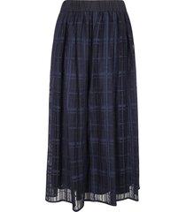 fabiana filippi check pattern lace skirt