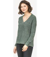 lilla p open back v-neck sweater
