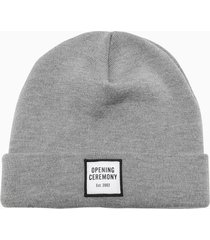 opening ceremony small box logo beanie hat ymlc001f20kni001