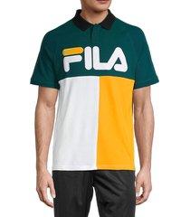 fila men's fellner regular-fit polo - white - size xxl