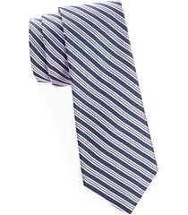 ribbon stripe silk tie