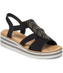 v02c1-00 shoes summer shoes flat sandals svart rieker
