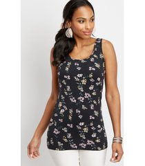 maurices womens floral scoop neck layering tank