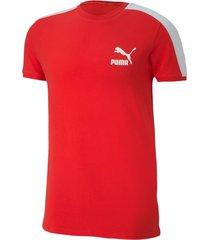 camiseta iconic t7 slim tee puma mujer 581558 11 rojo
