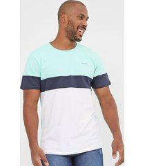 camiseta yachtsman color block verde/azul-marinho - verde - masculino - algodã£o - dafiti