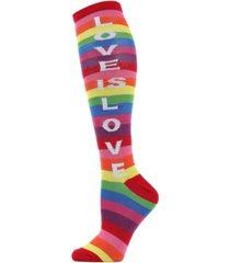 memoi love is love women's over the knee socks