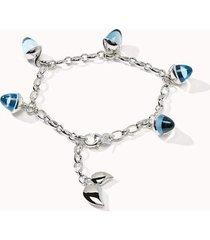 sky topaz mikado flamenco charm bracelet