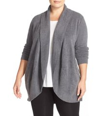 plus size women's barefoot dreams cozychic lite circle cardigan, size 2x - grey