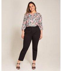 pantalon mujer tobillero unicolor