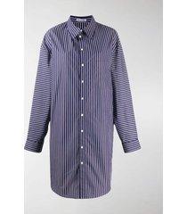 balenciaga oversized striped shirt dress