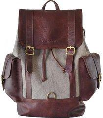 mochila marrón briganti unisex sutera