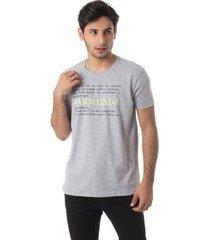 camiseta a jornada gola redonda thiago brado 1107000004 cinza - cinza - m - masculino