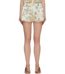 'kirra' elastic waist shorts