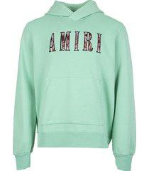 paisley core logo hoodie mint green